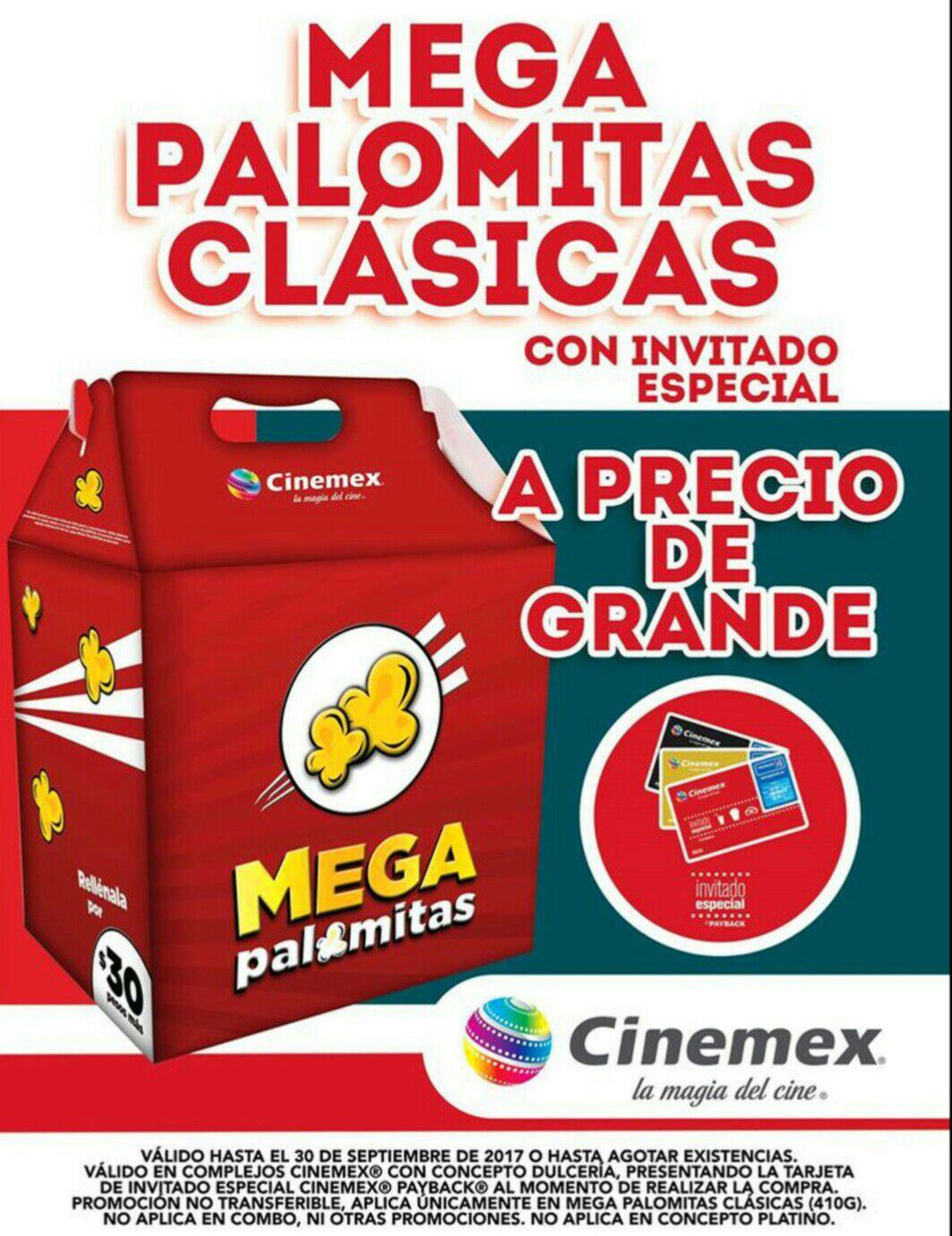 Cinemex: mega palomitas a precio de grandes con invitado especial.