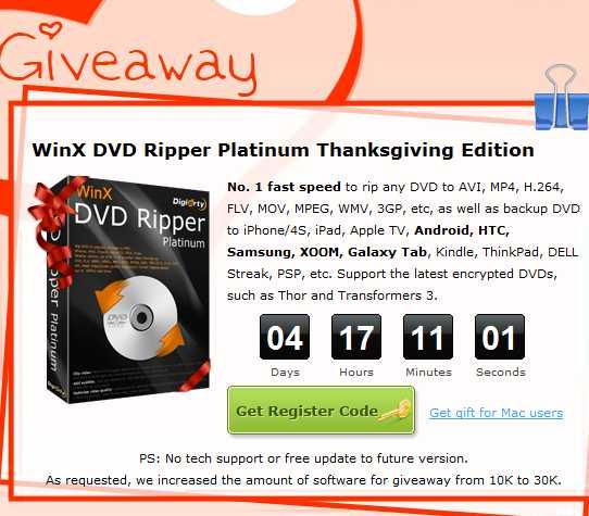 MacX DVD Ripper Pro y WinX DVD Ripper Platinum gratis
