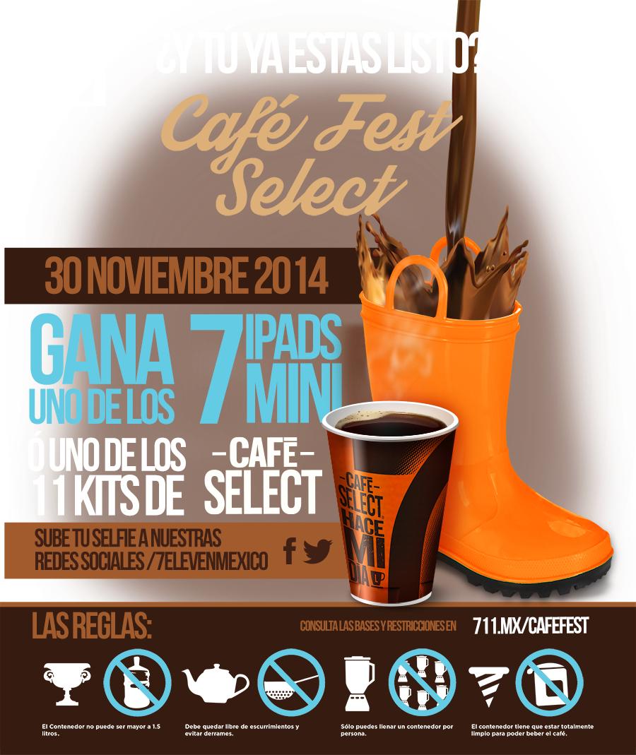 Café Fest Select en 7 Eleven el 30 de noviembre