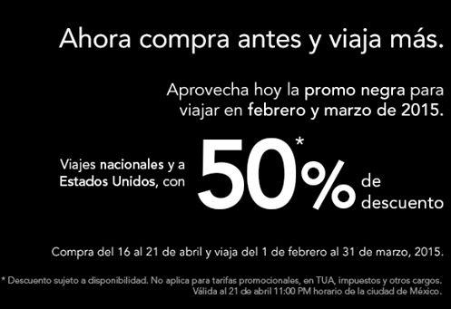 Volaris: promo negra para febrero y marzo de 2015