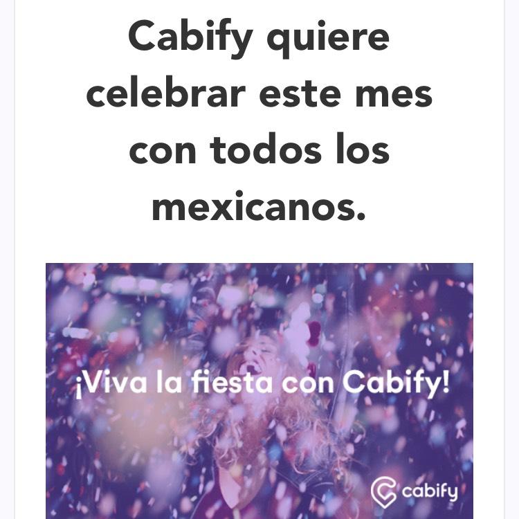 Cabify: Regalos y sorpresas por ser el mes patrio del 11 al 17 de septiembre