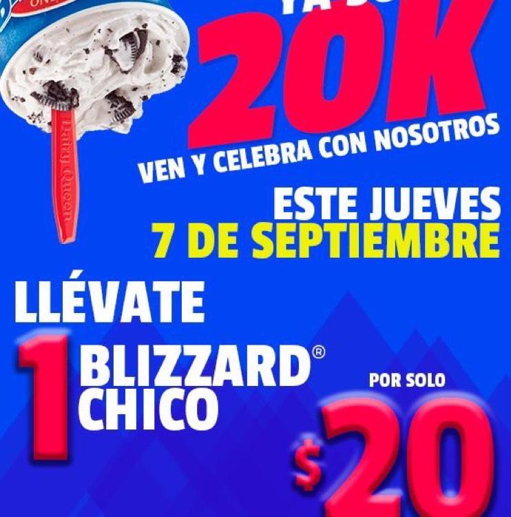 Dairy Queen Monterrey: Blizzard Chico a $20 solo 7 de Septiembre