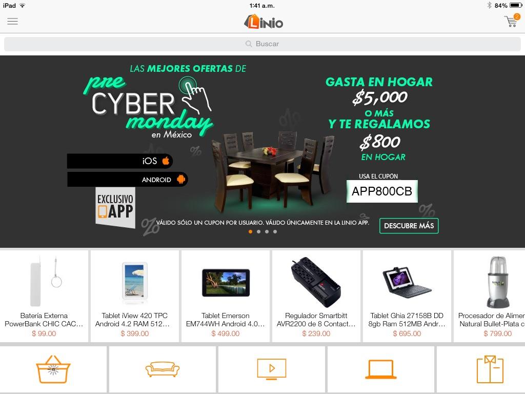 Linio Pre Cyber Monday: $800 en cashback al comprar $5,000 en hogar