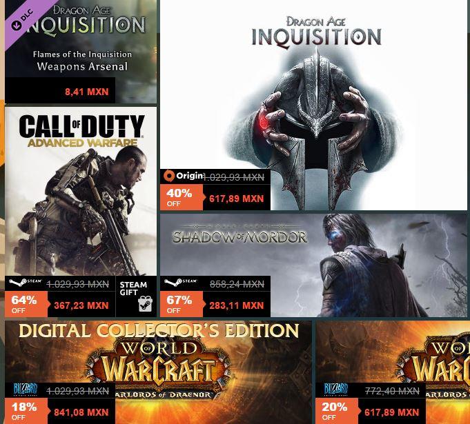 Black Weekend en juegos Steam, suscripciones gold, y sobres de hearthstone..