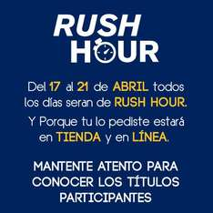 Blockbuster y Game Rush: rush hour todos los días del 17 al 21 de abril
