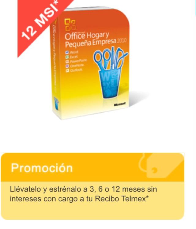 Tienda Telmex: Office 2010 hogar y negocio