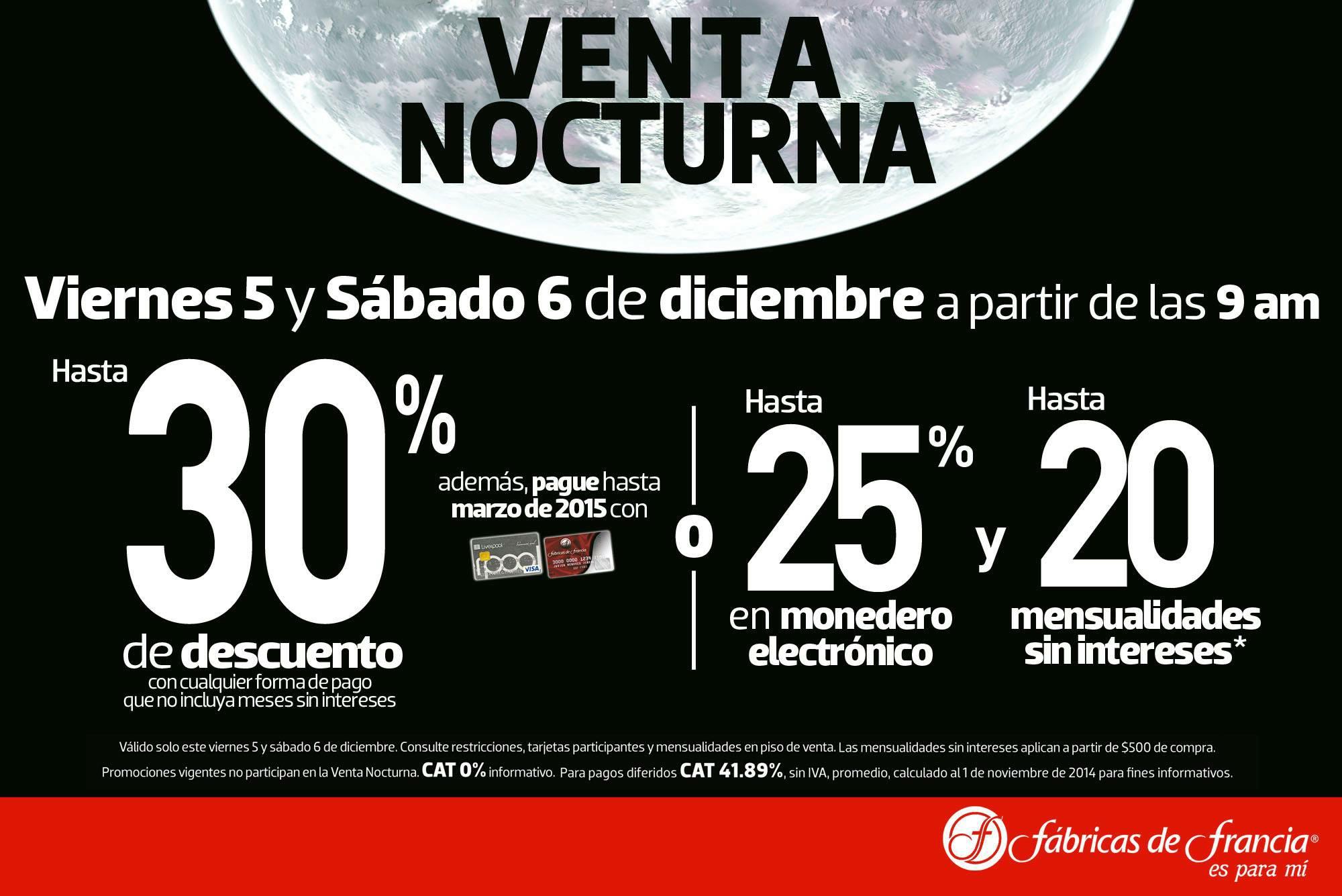 Venta Nocturna Fábricas de Francia (Liverpool Online) Diciembre 2014