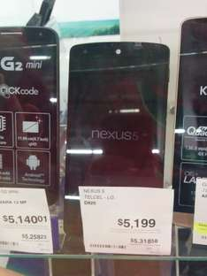 Sam's Club: Nexus 5 en $5199