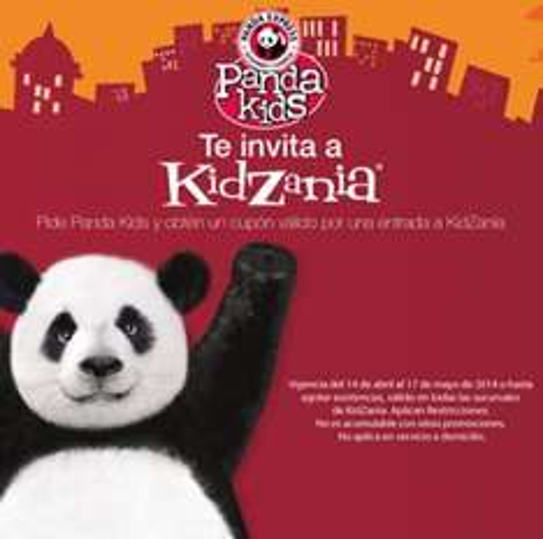 Gratis entrada para Kidzania pidiendo Panda Kids en Panda Express