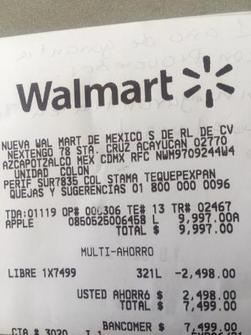 Walmart: iPhone 6 Plus 16GB reacondicionado a $7499