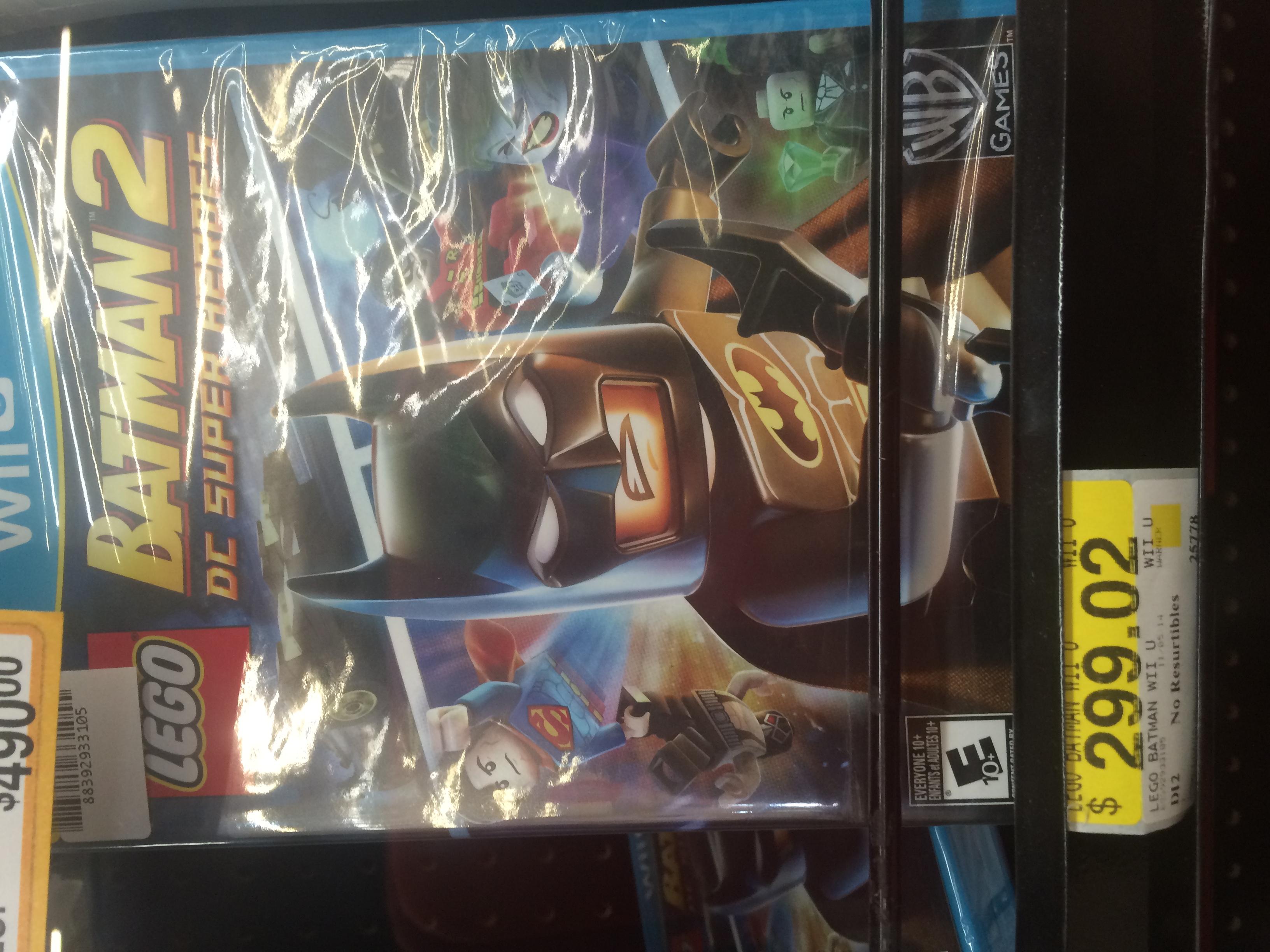 Wii U LEGO Batman 2 en Walmart