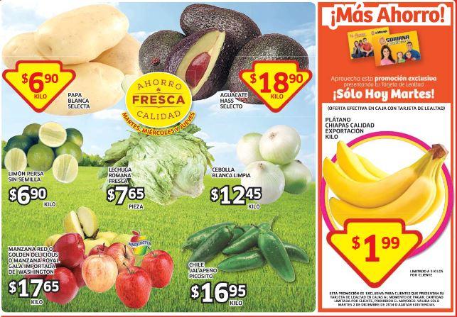 Soriana: Plátano $1.99 el kilo y más