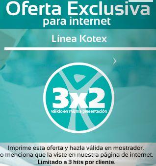 Farmacia San Pablo: 3x2 en Kotex, cepillos Colgate, pañales KleenBebé Absorsec y más