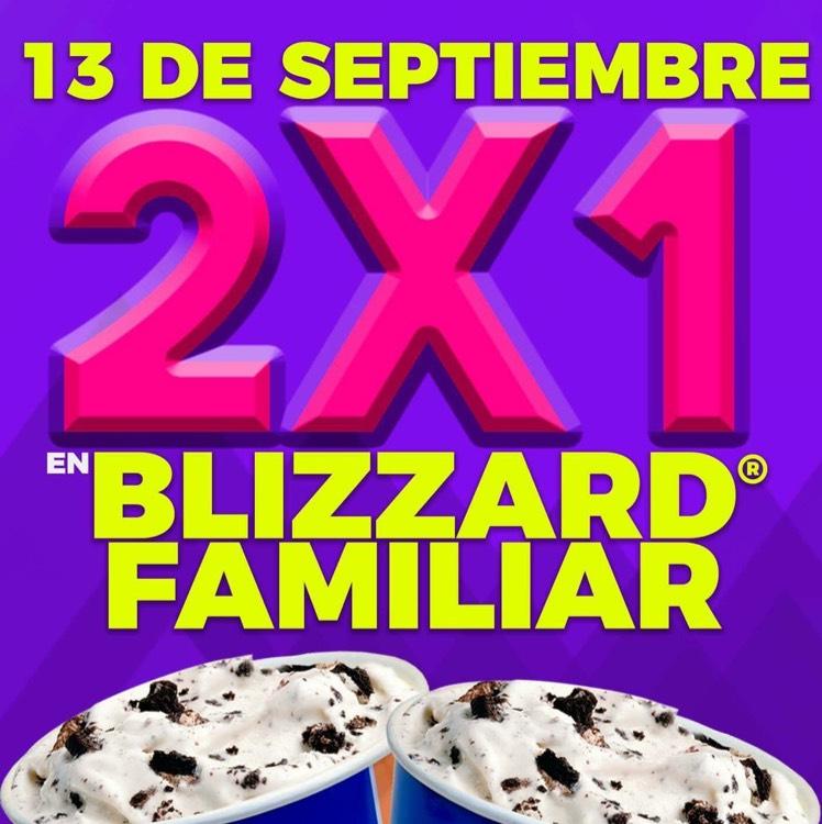 Dairy Queen MTY: 2x1 Blizzard Familiar SOLO 13 de Septiembre
