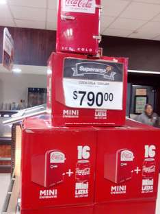 Superama: Mini cooler coca-cola $790