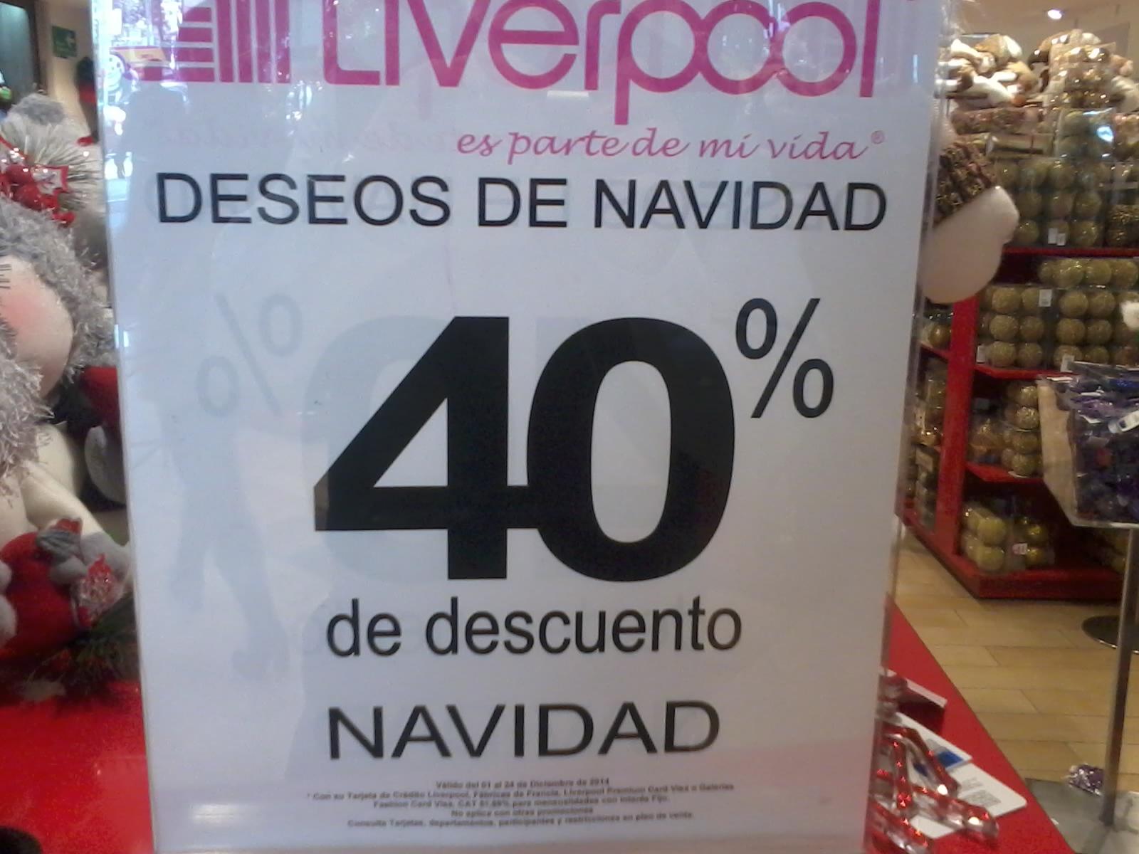 Liverpool deseos de Navidad: 40% de descuento en decoración navideña