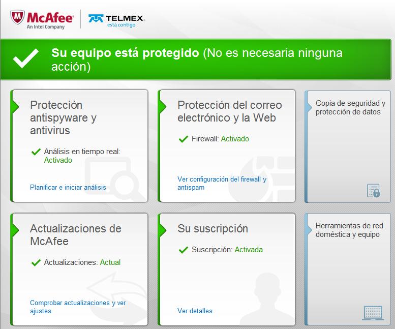 Telmex: Antivirus McAfee gratis para clientes infinitum