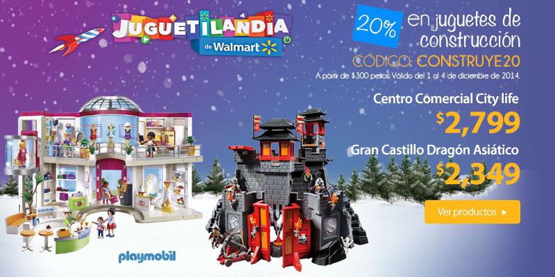 Walmart 20% de descuento en juguetes de construccion