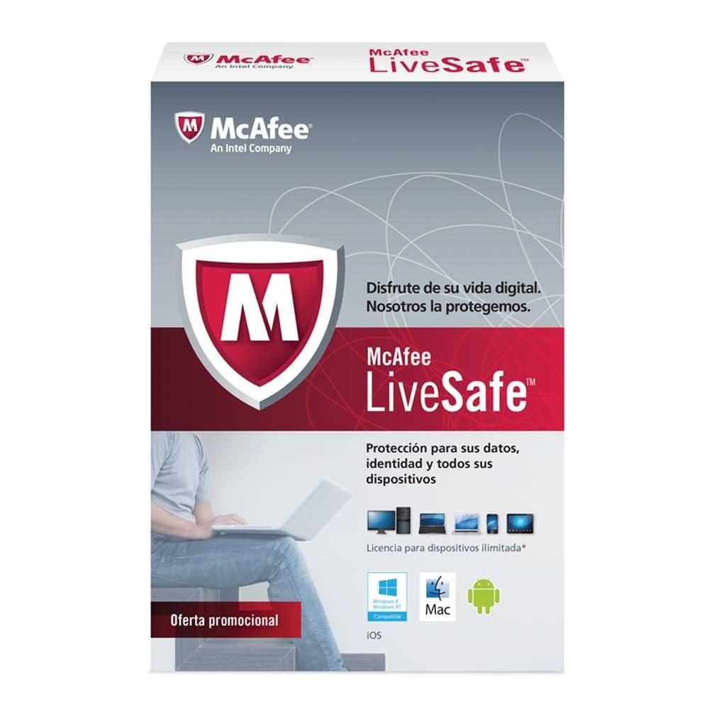 Walmart: Protección McAffe LiveSafe para todos sus equipos $90