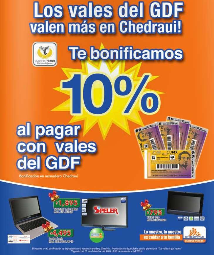 Chedraui: 10% de bonificación pagando con vales del GDF (todo el año)