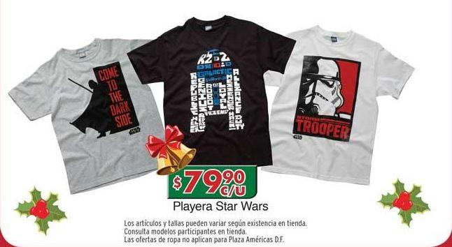 Chedraui: playeras Star Wars $80