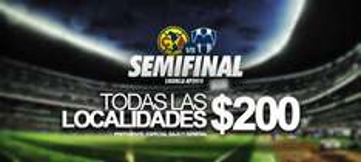 Ticketmaster: Boletos para semifinal America vs Monterrey $200