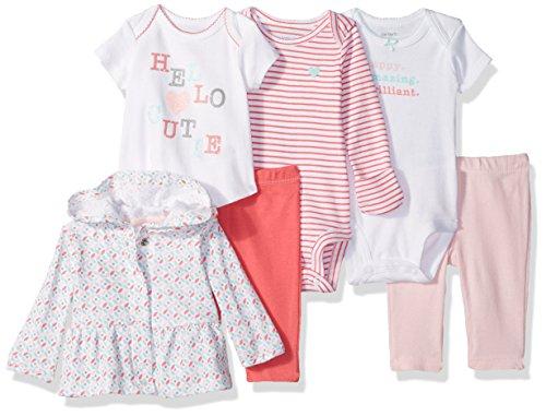 Amazon: Carter's Girls' 6-Piece Jacket, Pant and Bodysuit Set