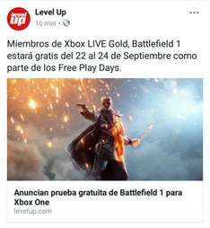 Fin de semana gratis Battlefield 1 para Xbox one