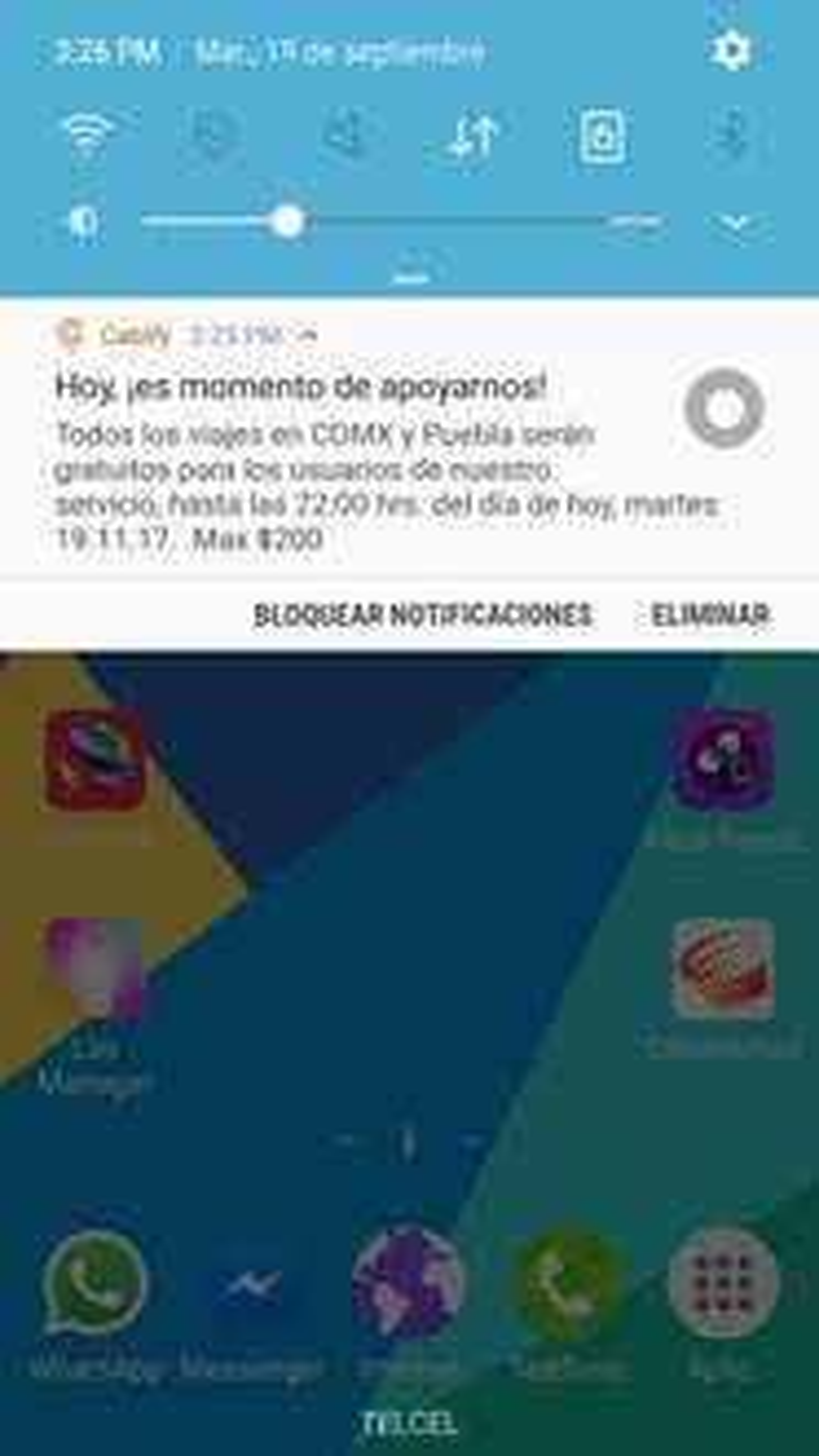 Cabify: Viajes gratis en CDMX y Puebla por sismo