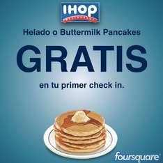 IHOP: gratis helado o buttermilk pancakes haciendo check in