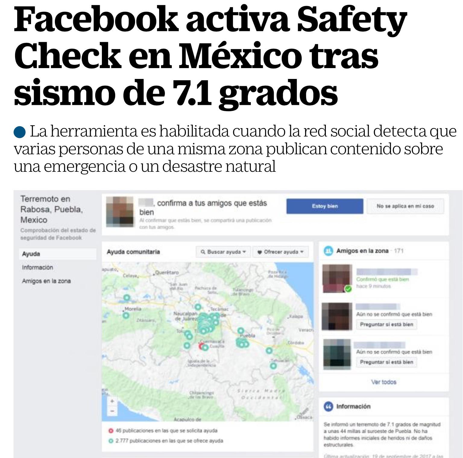 Facebook: confirma a tus amigos que estás bien.