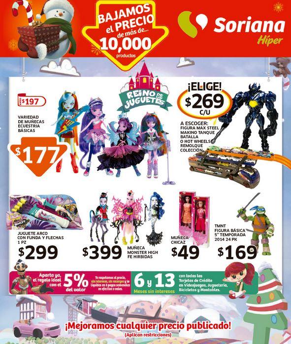Folleto de ofertas de Soriana del 5 al 18 de diciembre