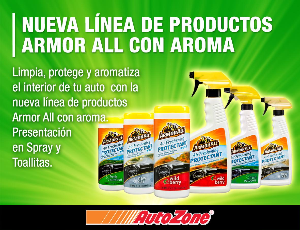 AutoZone: Armor All 500 ml 2 X $100 (Variedad de aromas)