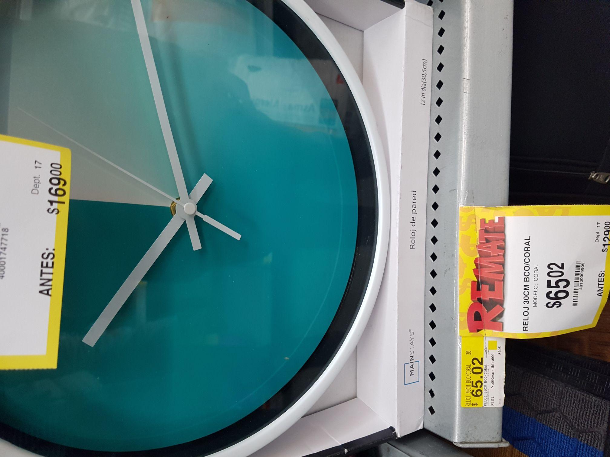 Bodega Aurrerá: reloj 30cm