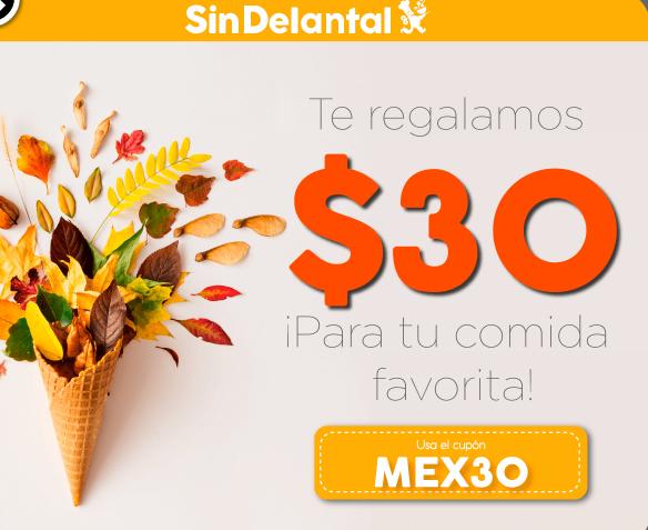 Sin delantal: $30 de descuento