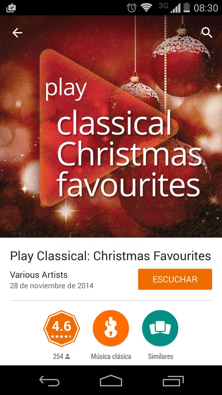 Discos de navidad en Google play gratis