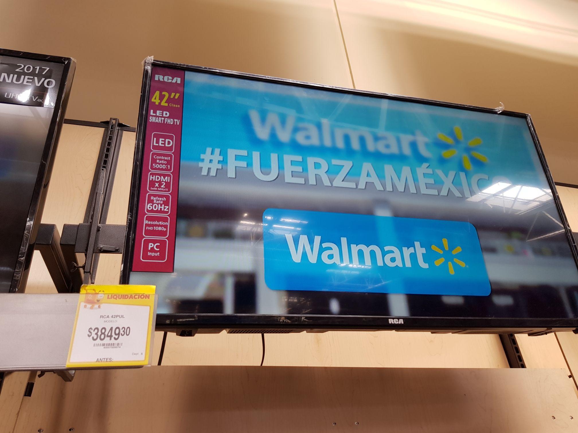 """Walmart: TV Smart RCA 42"""" a $3,849.30"""