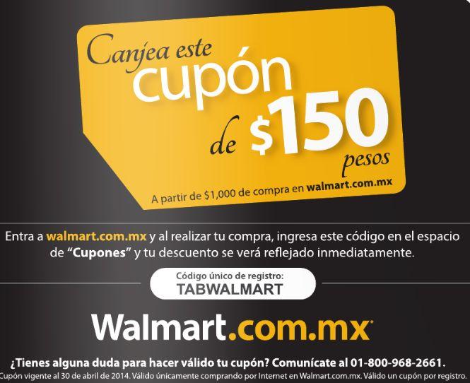 Walmart: cupón de $150 de descuento en compras de $1,000