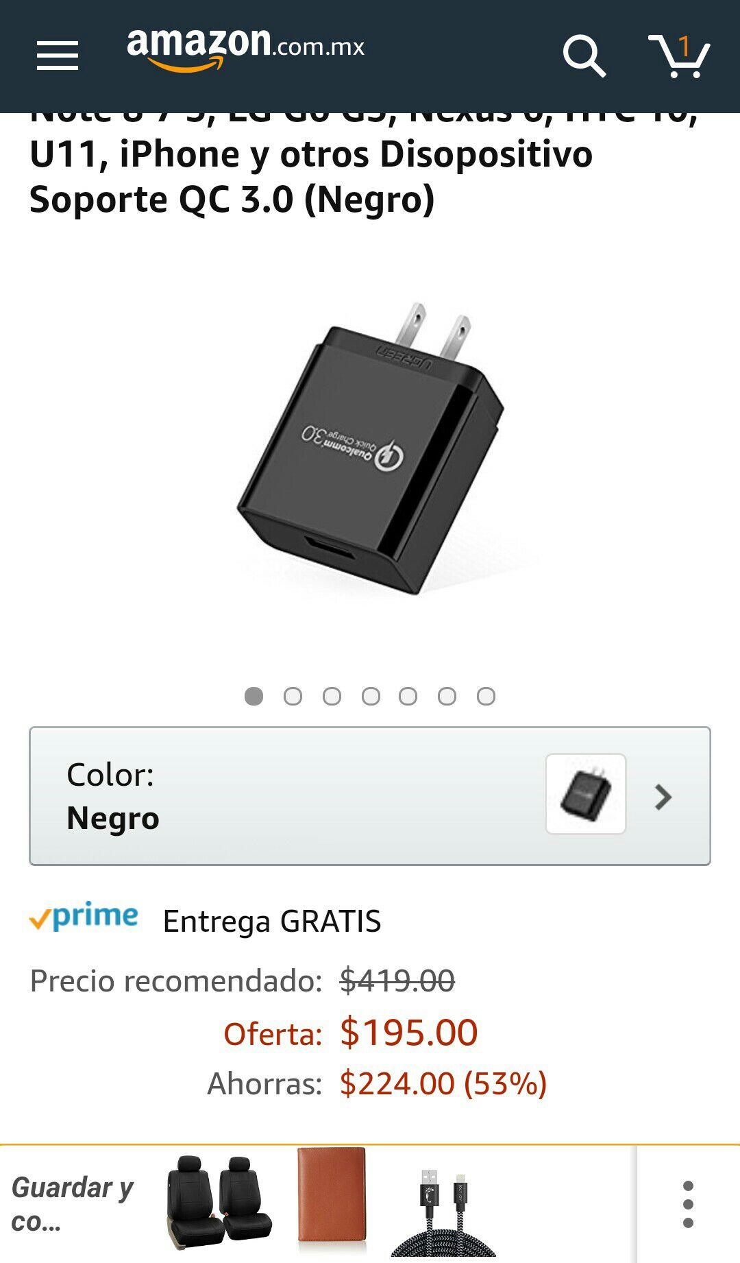 Amazon: Quick Charge 3.0 UGREEN