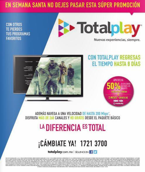 Totalplay: 50% de descuento en los primeros meses y 2 meses gratis de HBO, Moviecity y Max