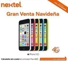 Nextel: iPhone 5C gratis en plan 600