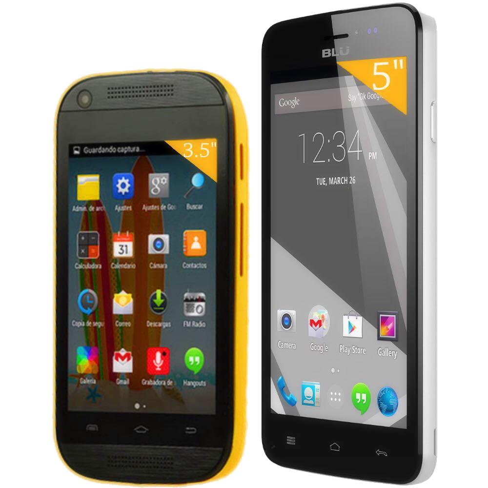 Walmart: 2 Smartphones Liberados (Blu Studio y Verykool) por $1,799