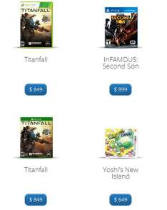 Gamers o Liverpool: Yoshi's New Island $649, Titanfall o Infamous Second Son $849