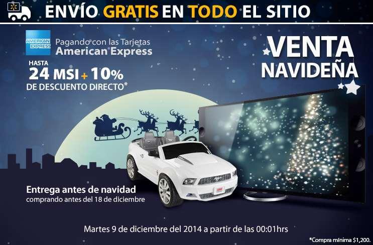 Walmart venta navideña online diciembre 9: envío gratis en todo y 10% de descuento con American Express