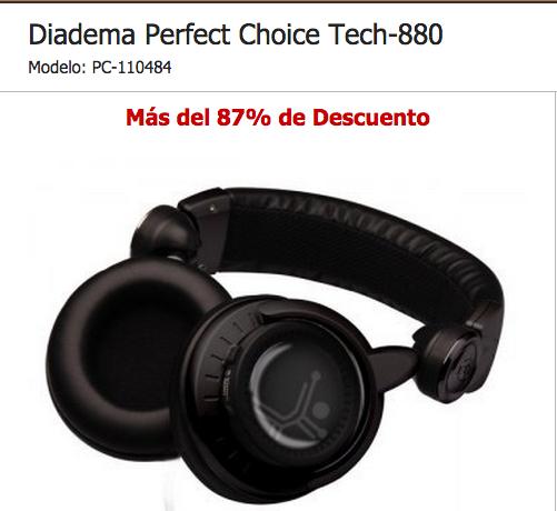 Intelcompras: Diadema Perfect Choice Tech-880 de $607 a $147 con envío
