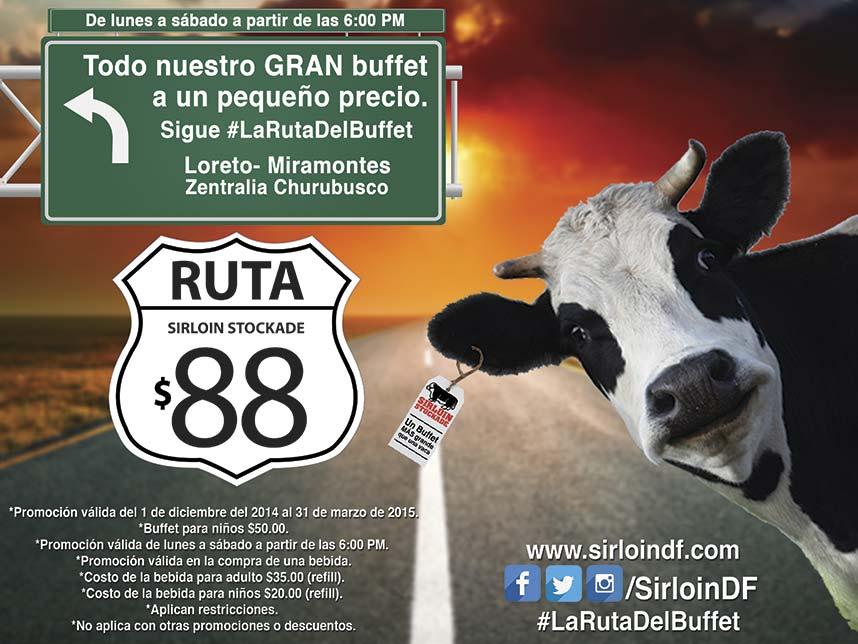 Sirloin Stockade: Bufette $88 adulto y $55 niños comprando bebida