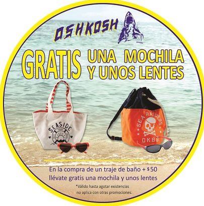 OshKosh: 2x1 en calzado seleccionado y lentes y mochila a $50 comprando traje de baño