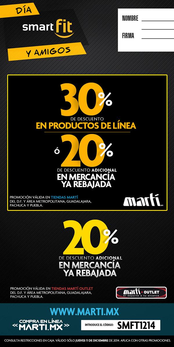 30% en la tienda en linea Marti.