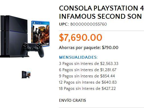 Walmart: PlayStation 4 con Infamous Second Son $6,921 con American Express