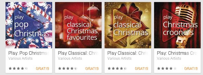 Discos de navidad en Google play gratis (Nuevos Discos)